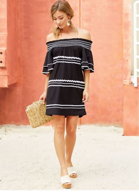 Mudpie Finnigan Black Dress - shoptheexchange