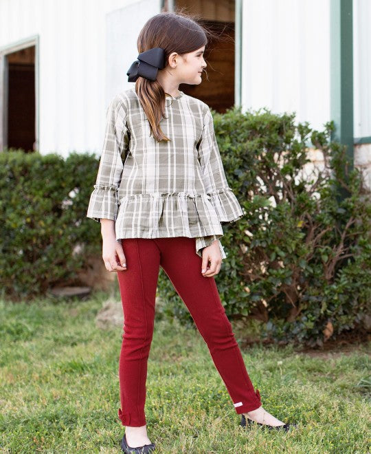 Gray & White Plaid Peplum Top - shoptheexchange