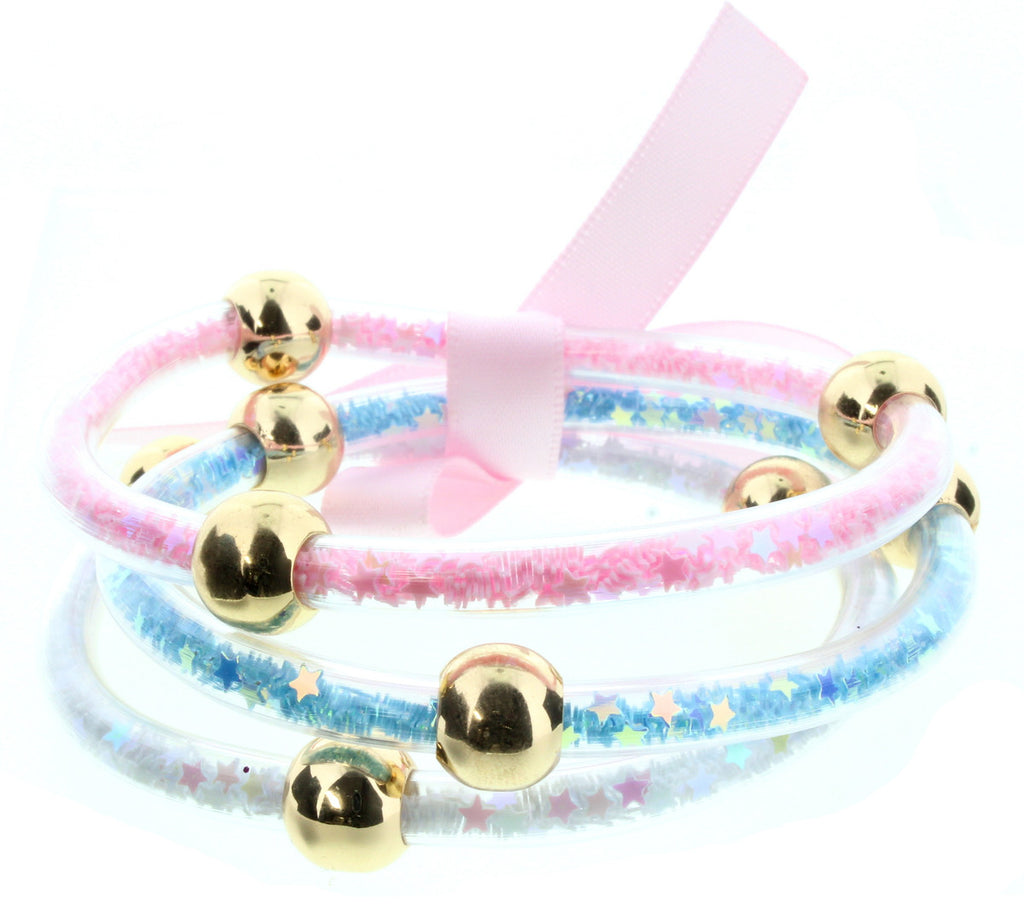 Kids Glitter Bangles - Set of 3