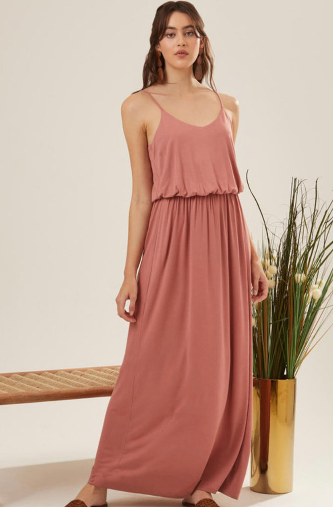 Best Dressed Maxi- Mauve