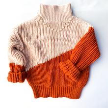 Warm Feelings Two Tone Turtleneck
