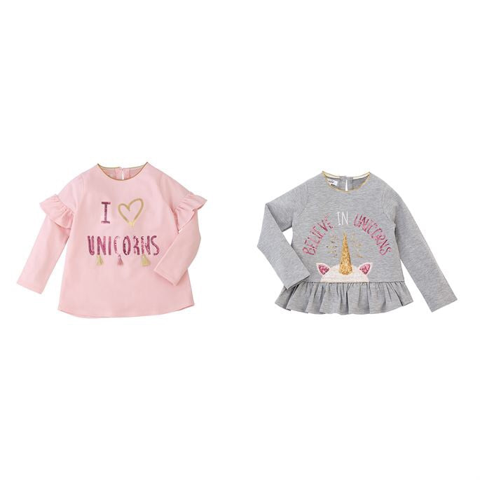 Unicorn sequin ruffle tees - shoptheexchange
