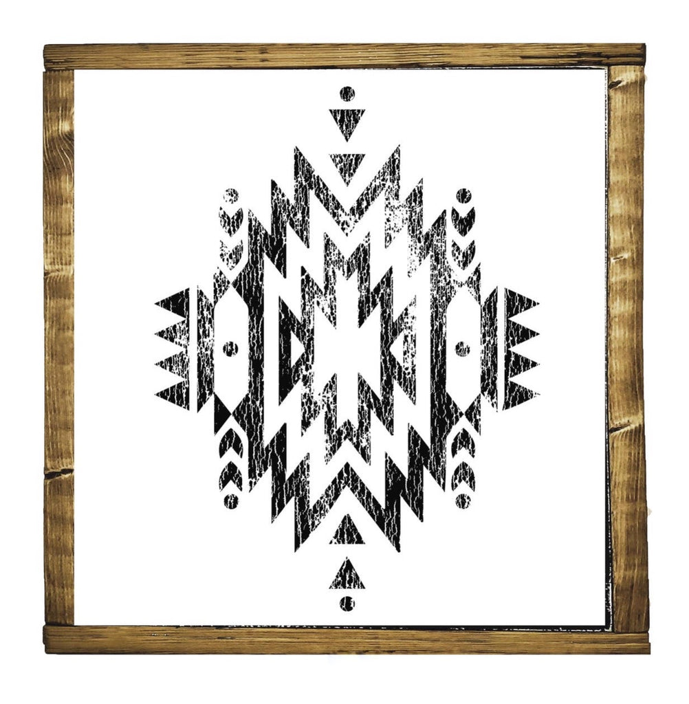 Cheyenne Aztec Wood Sign