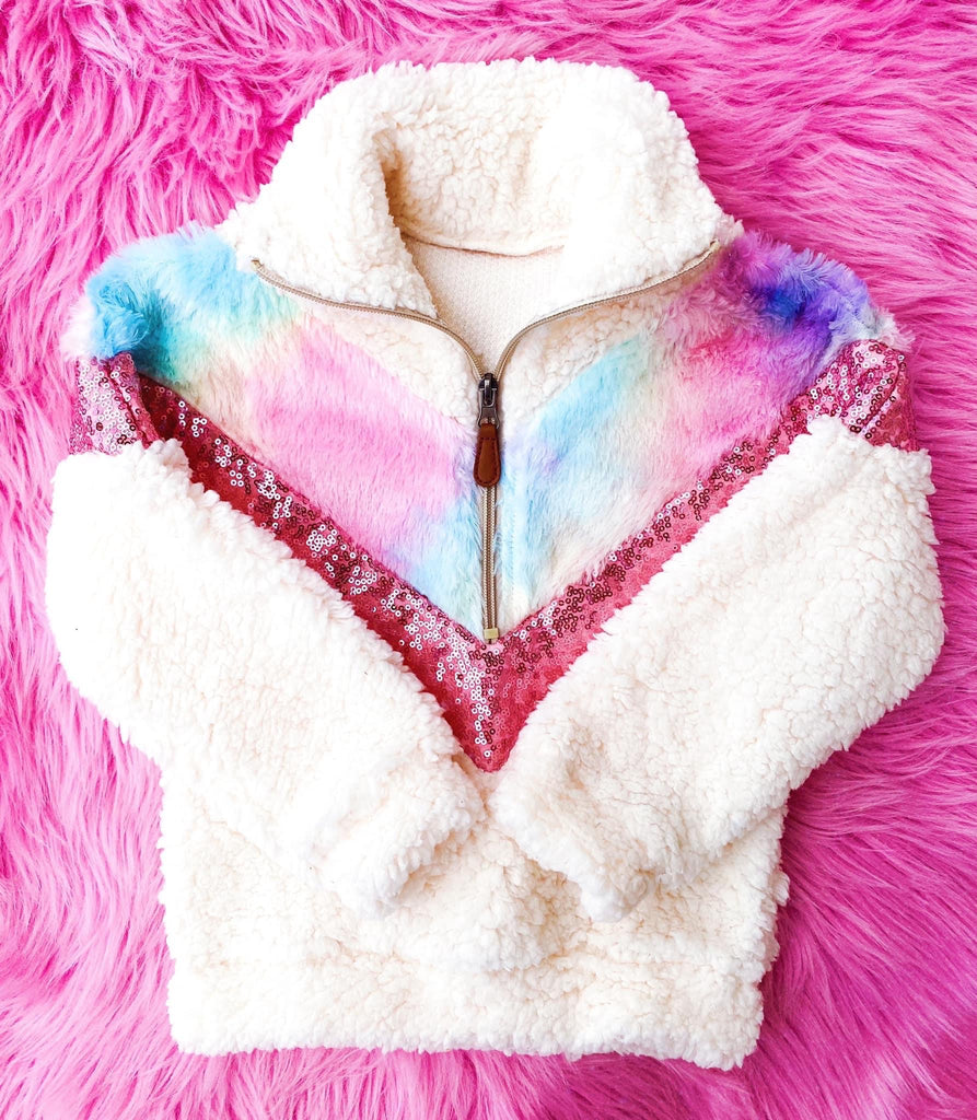 Touch of Sparkle Tie Dye Sherpa