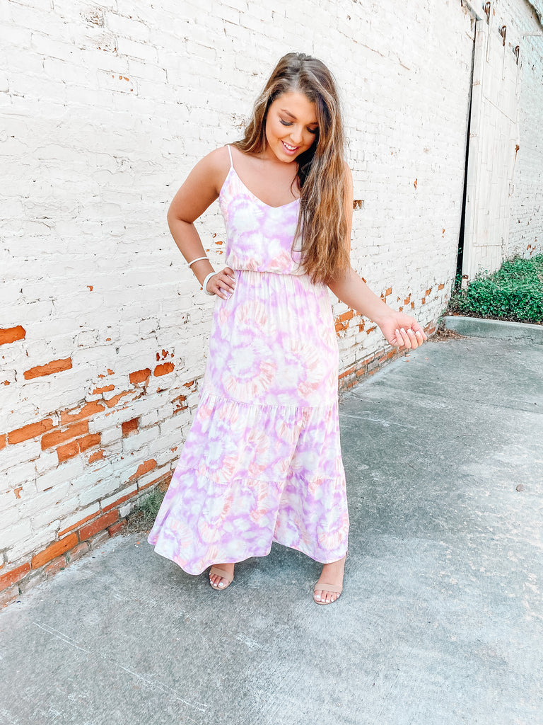 Tie Dye Best Dressed Maxi- Lavender Mix