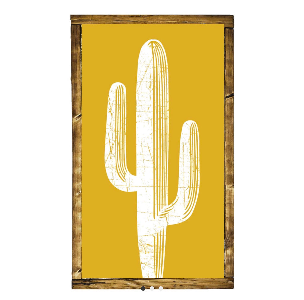 Desert Cactus Wooden Sign - shoptheexchange