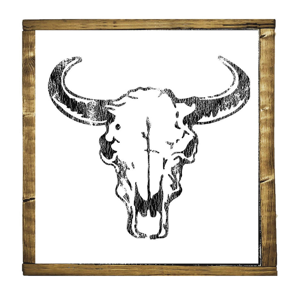 Desert Skull Wood Sign