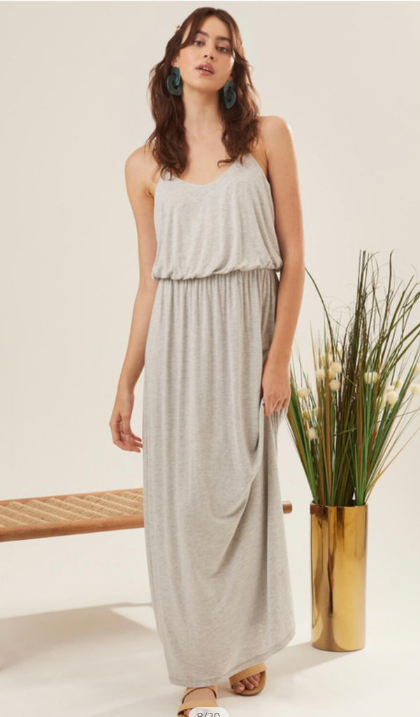 Best Dressed Maxi- Light Grey