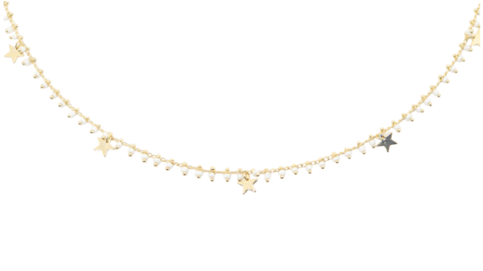 Make a Wish Star Necklace - White