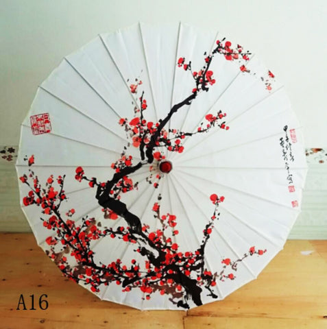Silk Women Umbrella Japanese Cherry Blossoms Silk  Ancient Dance Umbrella Decorative Umbrella Chinese Style Oil Paper Umbrella