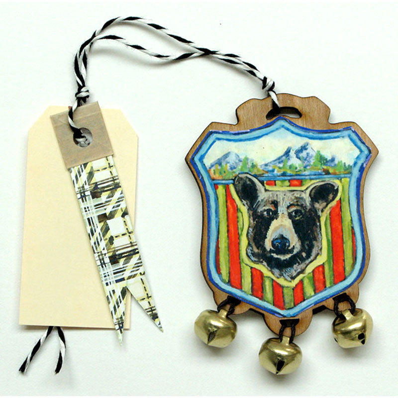 Bear Bell Badge Gift Tag, Ornament
