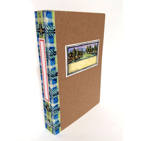 Book Box - blue plaid