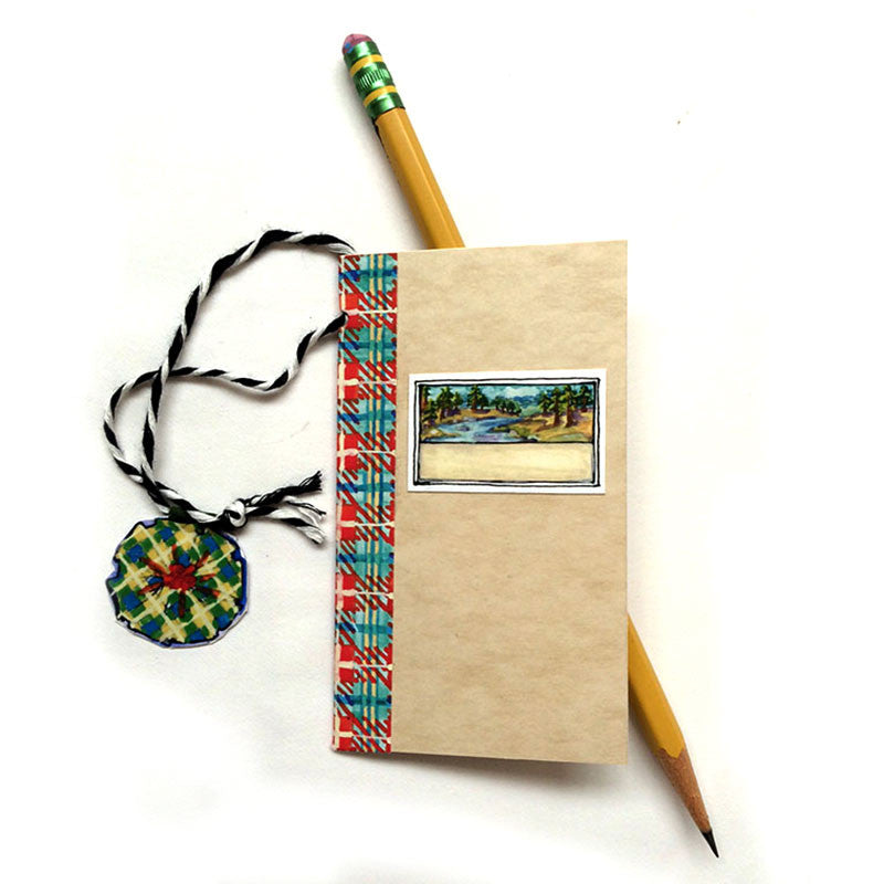 Book Bookmark - red plaid
