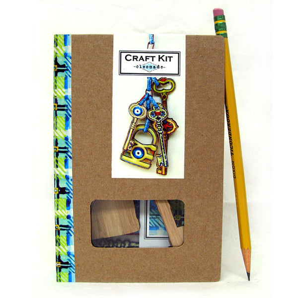 Craft Kit - Locks and Keys Gift Tags - evil eyes and star