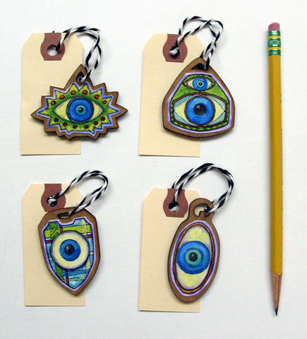 Evil Eyes Gift Tags, Ornaments Set 1