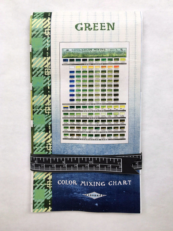 Green Color Mixing Chart