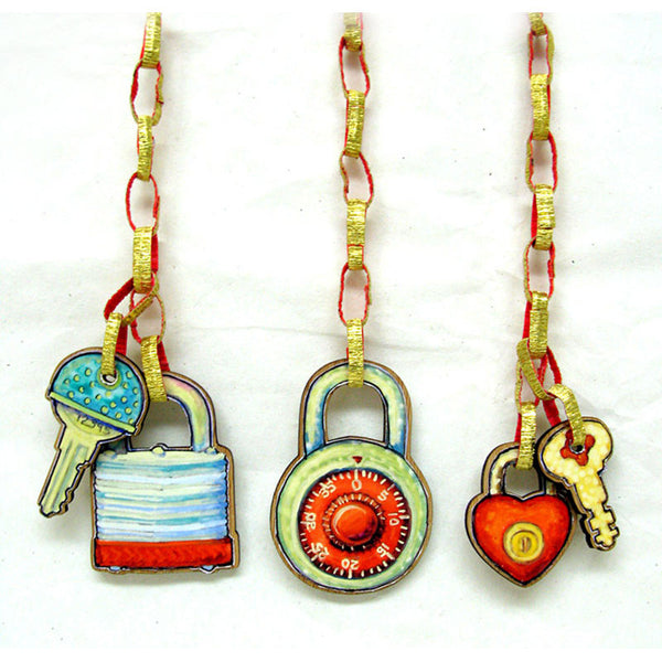 Keys - Turtle and Diamond Lock and Key Tags