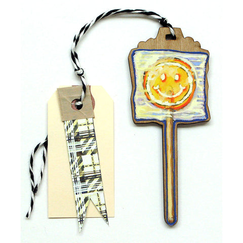 Lolli - Happy Face Gift Tag, Ornament