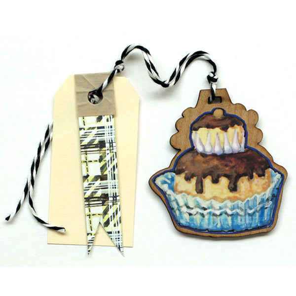 Pastry - Cream Puff Gift Tag, Ornament