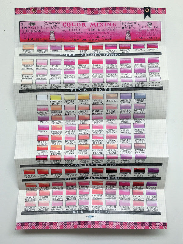Pink Color Mixing Chart