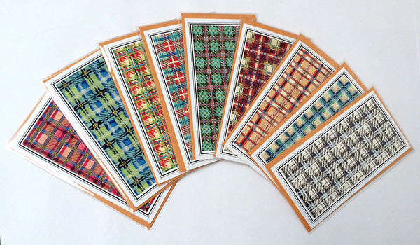 Cards - Plaid assorted