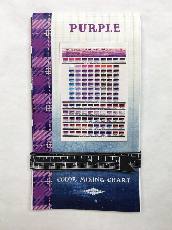 Purple Color Mixing Chart