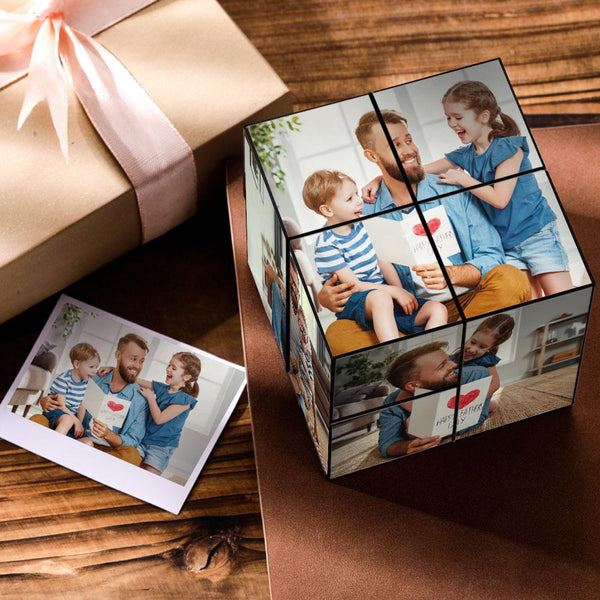 Custom DIY Folding Picture Cube Father's Day Gift