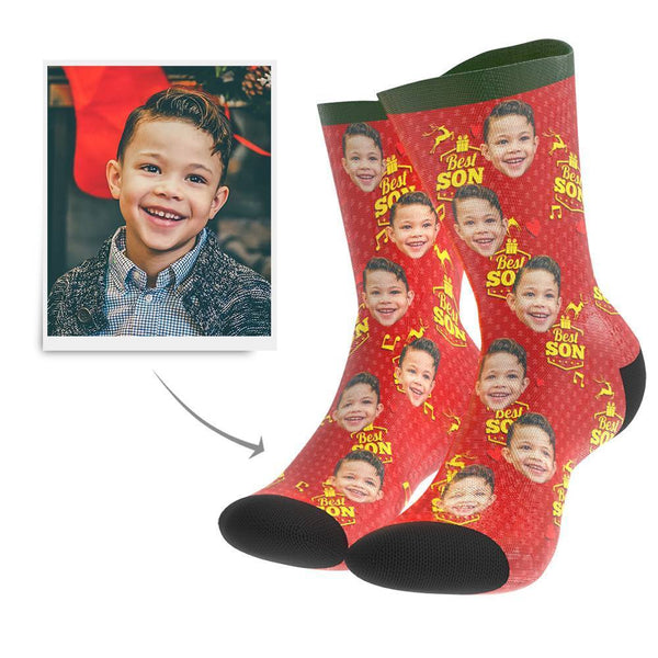 Christmas Gift Custom Face Socks (Son) - MyFaceBoxer