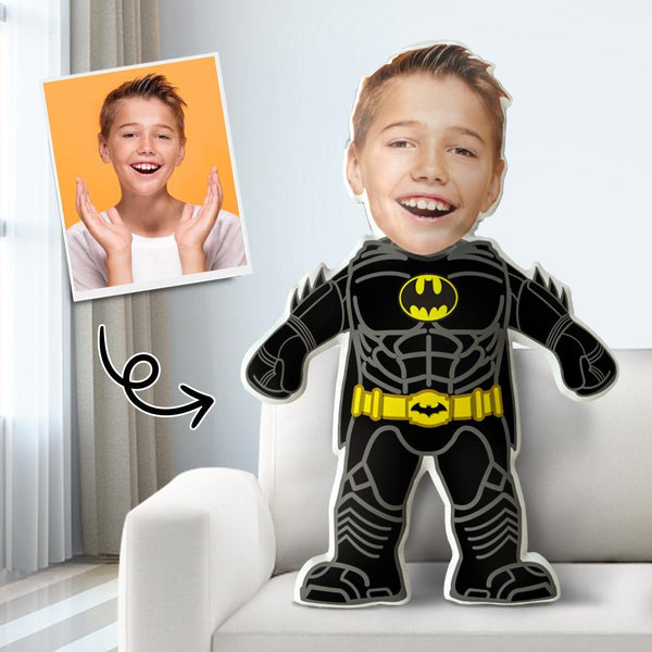 Custom Body Shaped Pillow, Face Pillow From Photos, Personalized Gift Pillow, Bat Man Pillow