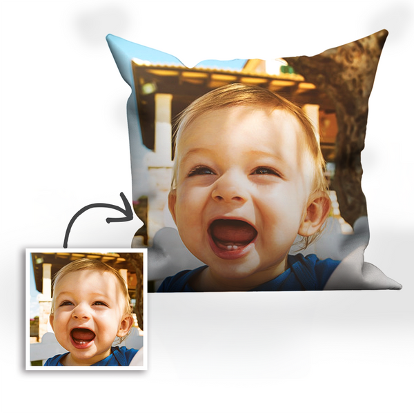 Custom Baby Photo Throw Pillow