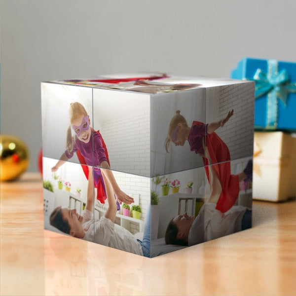 Custom Multi Photo Folding Magic DIY Rubik's Cube Gift For Mom