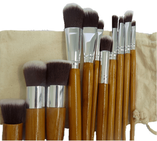 Bamboo Vegan 11 Piece Brush Kit