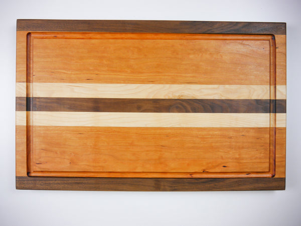 Walnut, Cherry, Maple Custom Hardwood Cutting Board