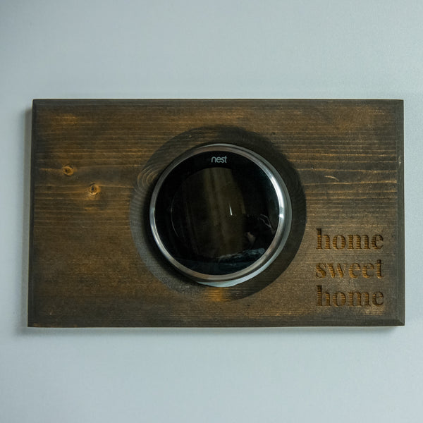 Nest Thermostat Rustic Wall Plate