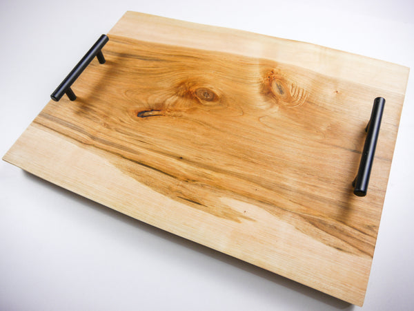 Personalized Ash Double Live Edge Serving Board