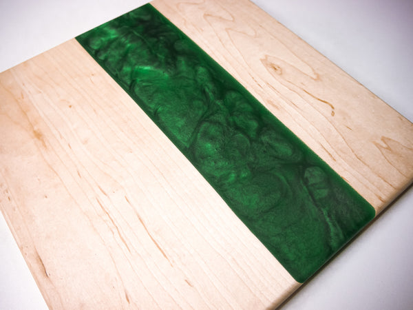 Square Live Edge & Epoxy Charcuterie Board