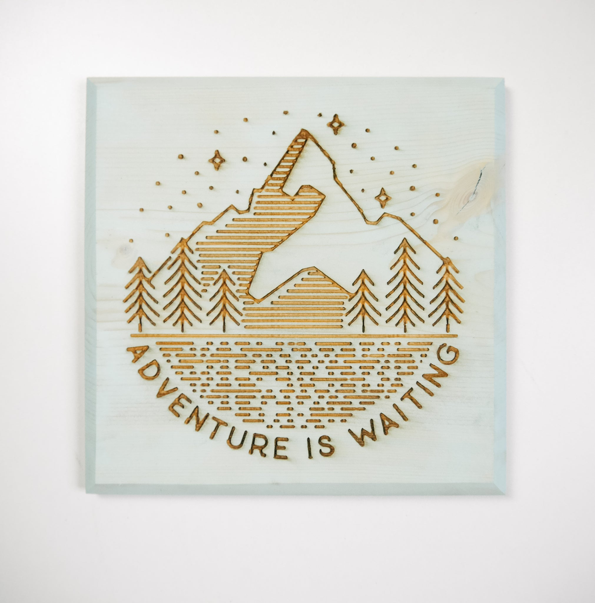 Adventure Is Waiting Wilderness Plaque