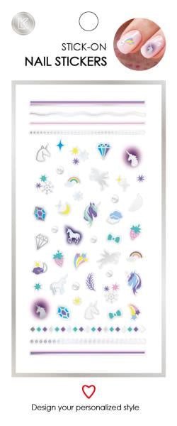 Unicorn Stick-On Nail Stickers