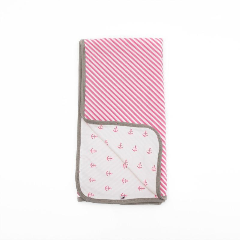 Li'l Zippers Pink Reversible Blanket