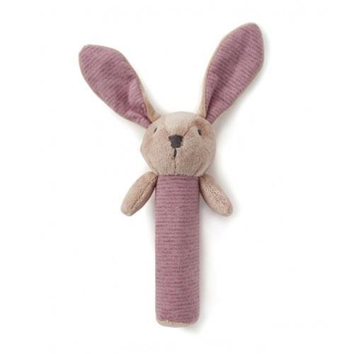 Nana Huchy Bunny Rattle- pink designer Toy