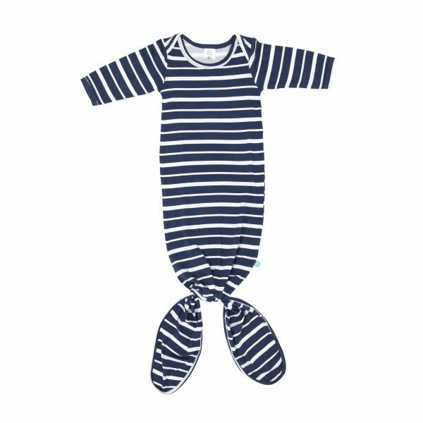 All4Ella | Knotted Onesie – Navy Stripe