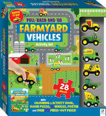 Pull Back and Go Vehicles- Farm vehicles