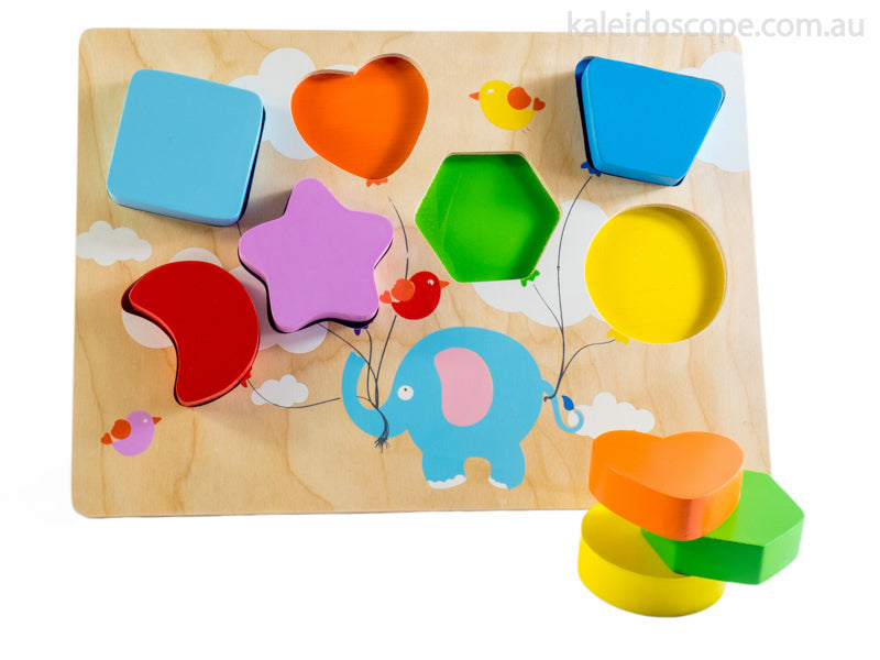 Flying Balloon Chunky Shape Puzzle | Kiddie Connect