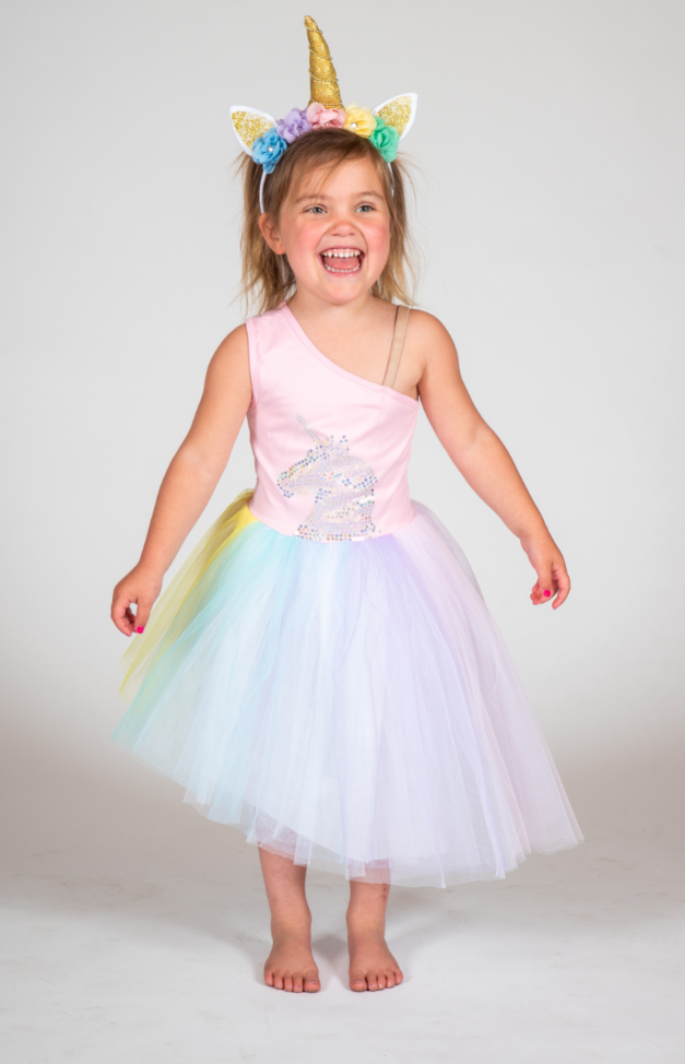 Gollygo | Rainbow Unicorn Dress
