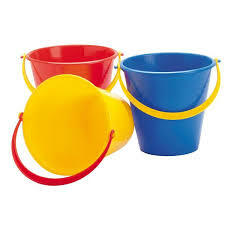 Dantoy | coloured buckets 15cm 1 litre