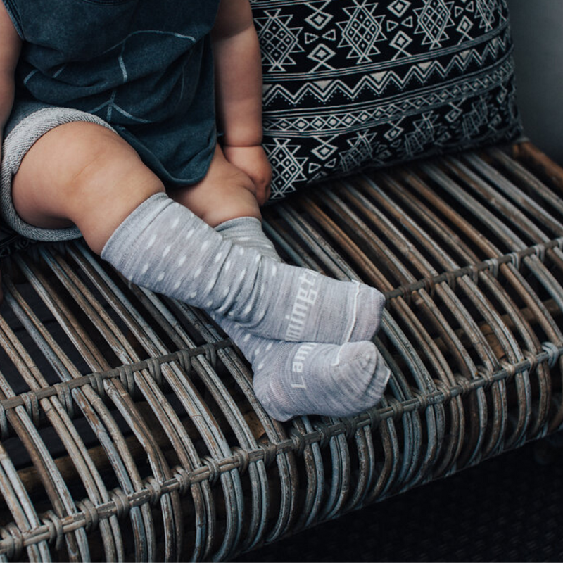 Lamington | Merino Wool Knee High Socks | Baby | SNOWFLAKE