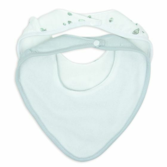 LITTLE BAMBOO | MUSLIN BIB 2PK WHISPER