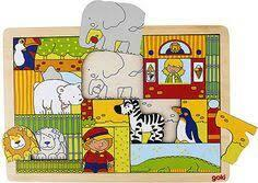 GOKI | Zoo Hidden Pictures Wooden Puzzle