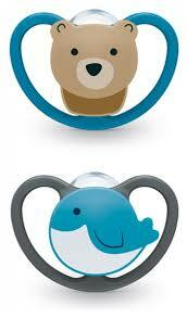 Nuk | Space Silicone Soothers | Bear/Bird