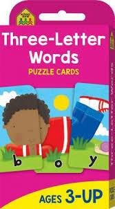 School Zone | Three-Letter Words Puzzle cards